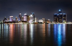 Detroit Radio Skyline